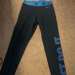 Blue Nike Pro Pants